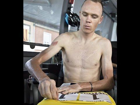 Un ciclista con un peso molto ridotto