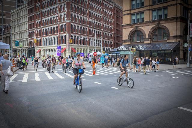 ciclisti a new york