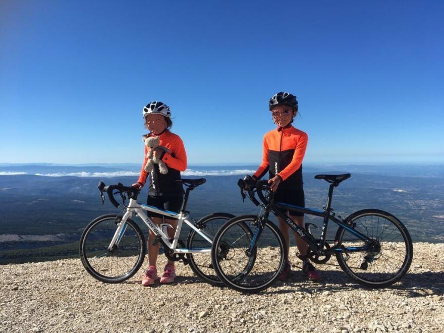 bambina 7 anni bici mont ventoux