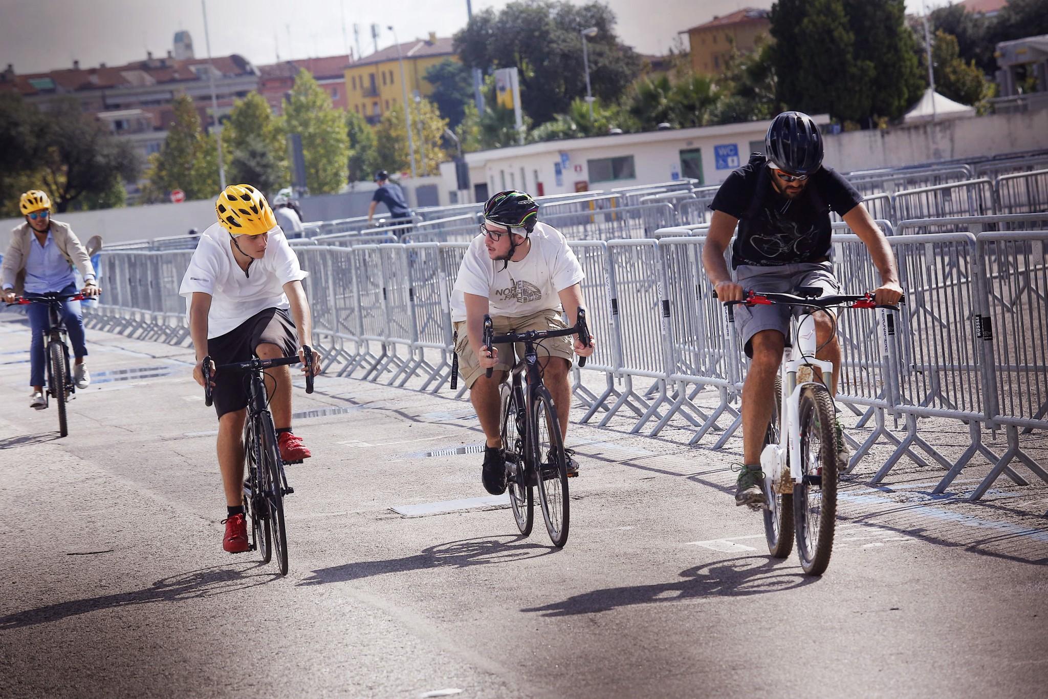 pista test bici da corsa