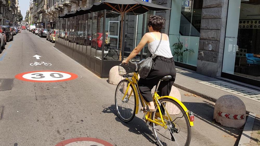 percorso per bici torino
