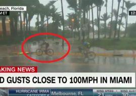 ciclisti uragano