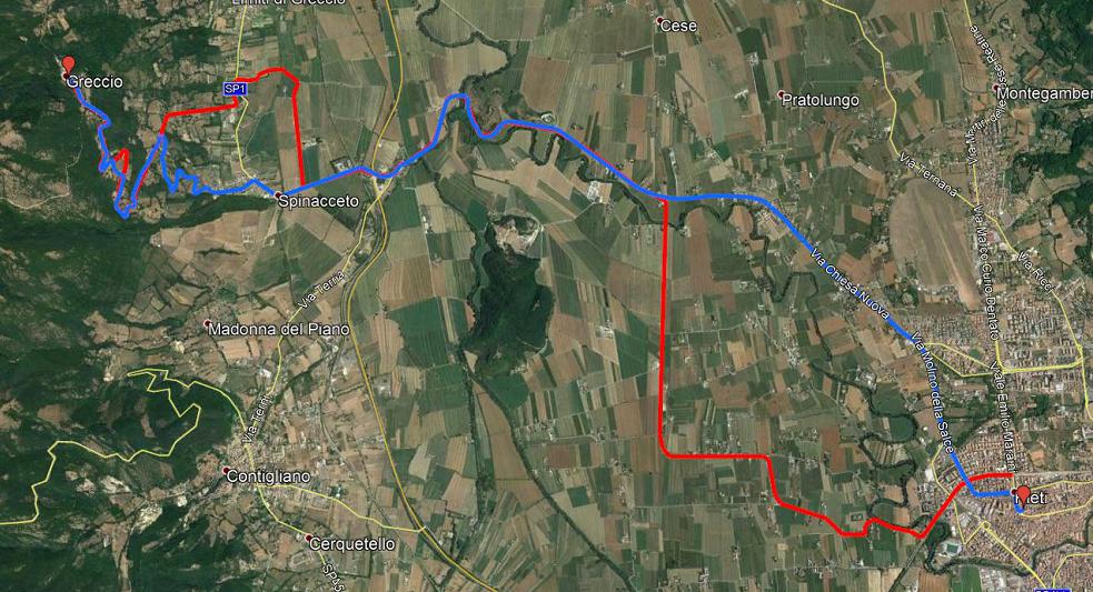 creare traccia al pc con Google Earth