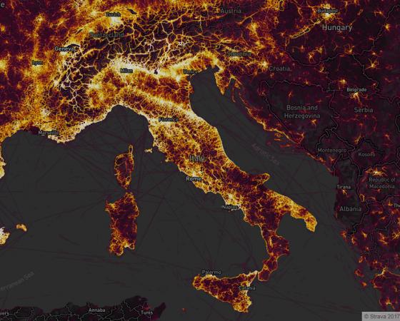 mappa italia heatmap strava