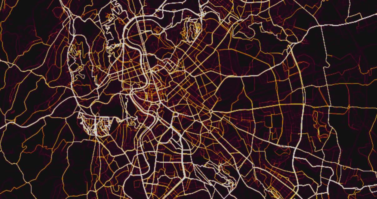 mappa roma strava - dove si pedala di più