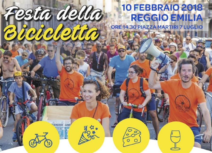 festa bicicletta Reggio Emilia 10 febbraio