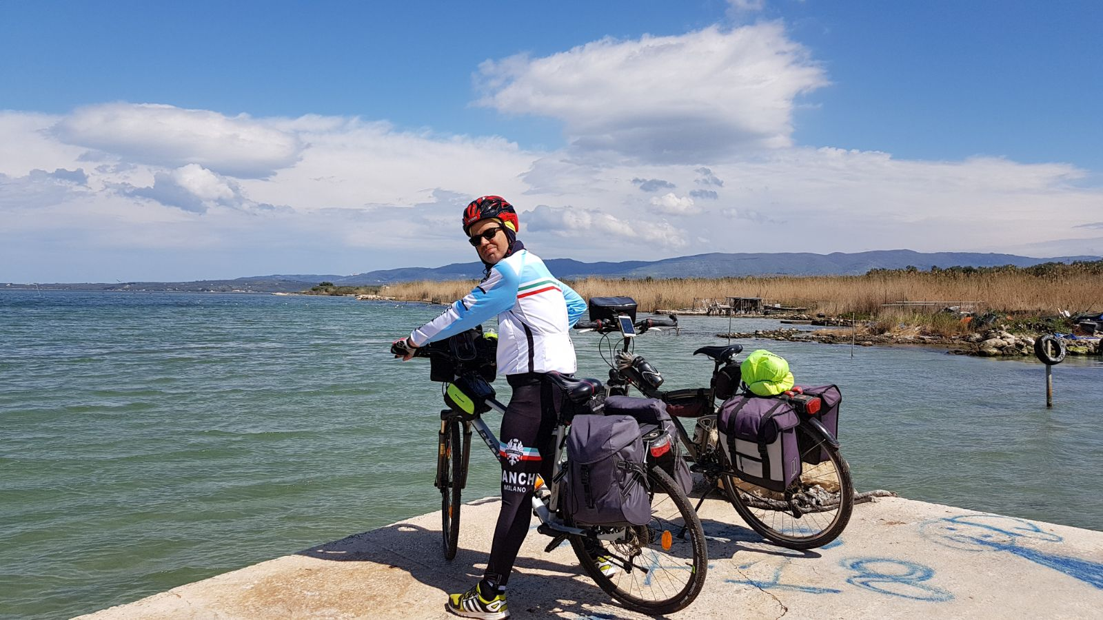 lago di varano in bici