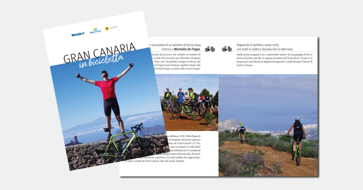 Grand Canaria in bicicletta, immagine facebook ebook