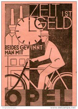 manifesto Opel e la bici