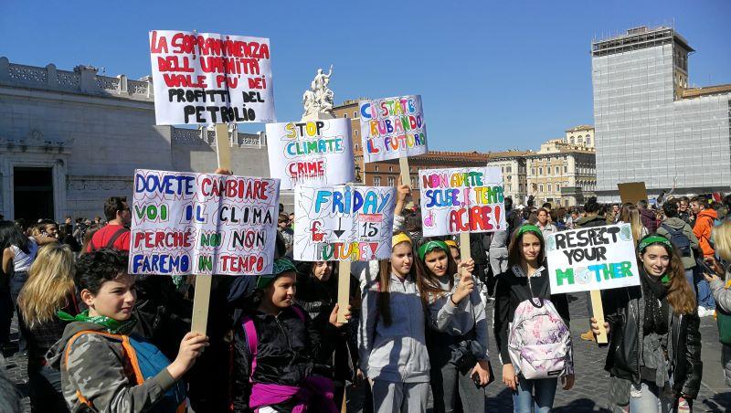 Fridays For Future manifestazione a Roma