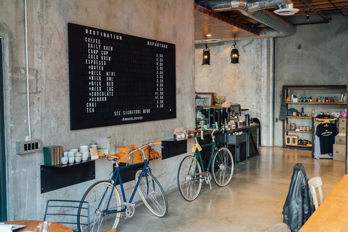 Un negozio di bici asiatico