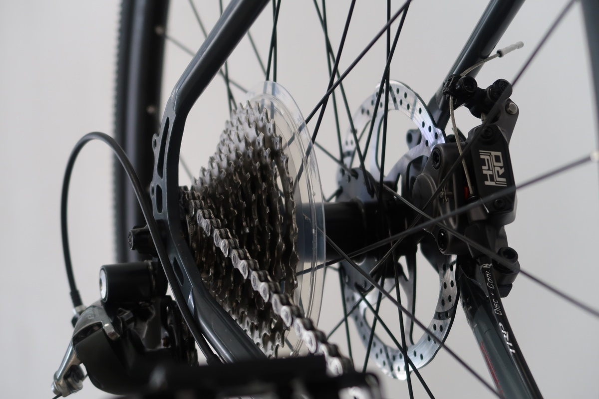 il pacco pignoni montato sulla bici