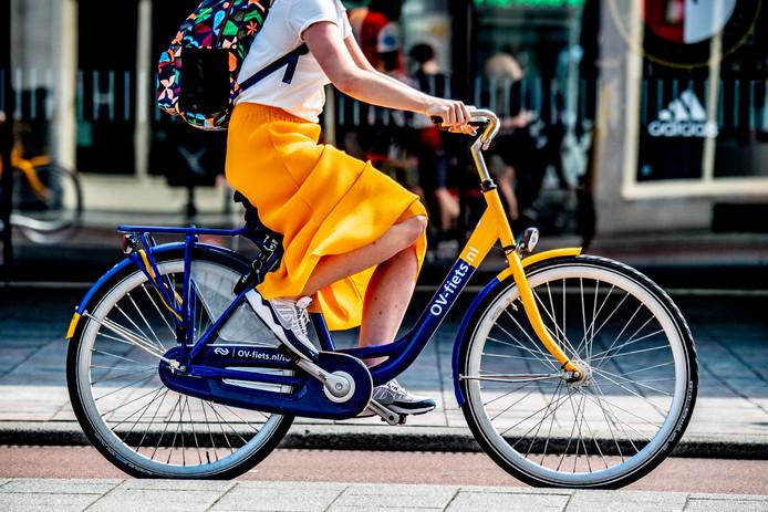 OV-Fiets bici gialle e blu