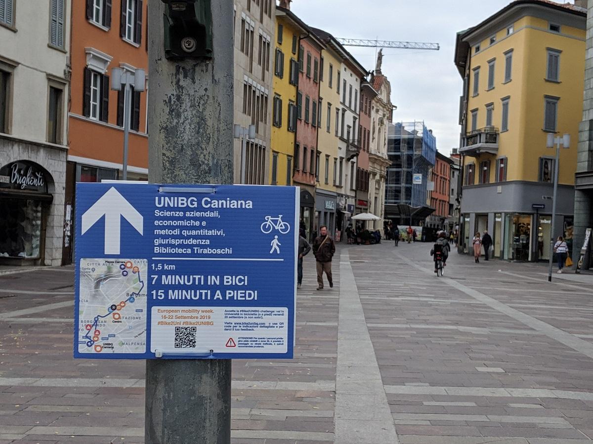 Guerrilla Wayfindig Bergamo