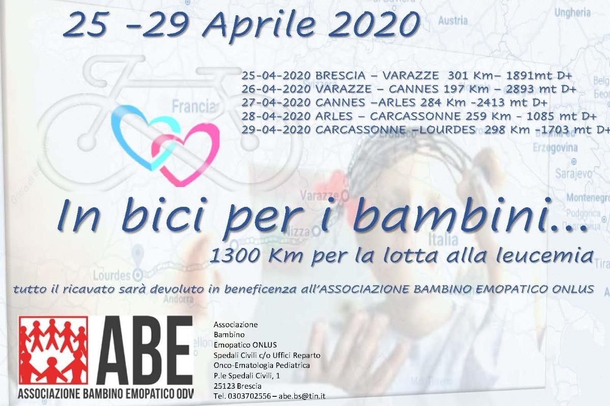 Brescia Lourdes bici leucemia