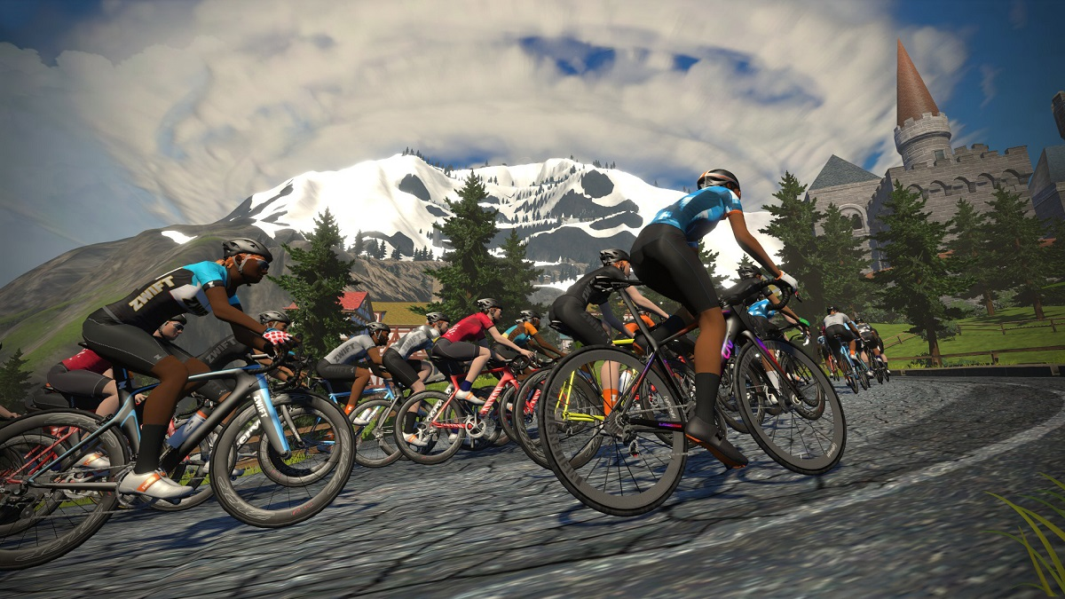 Zwift, percorso in Watopia, Alpe d'Huez