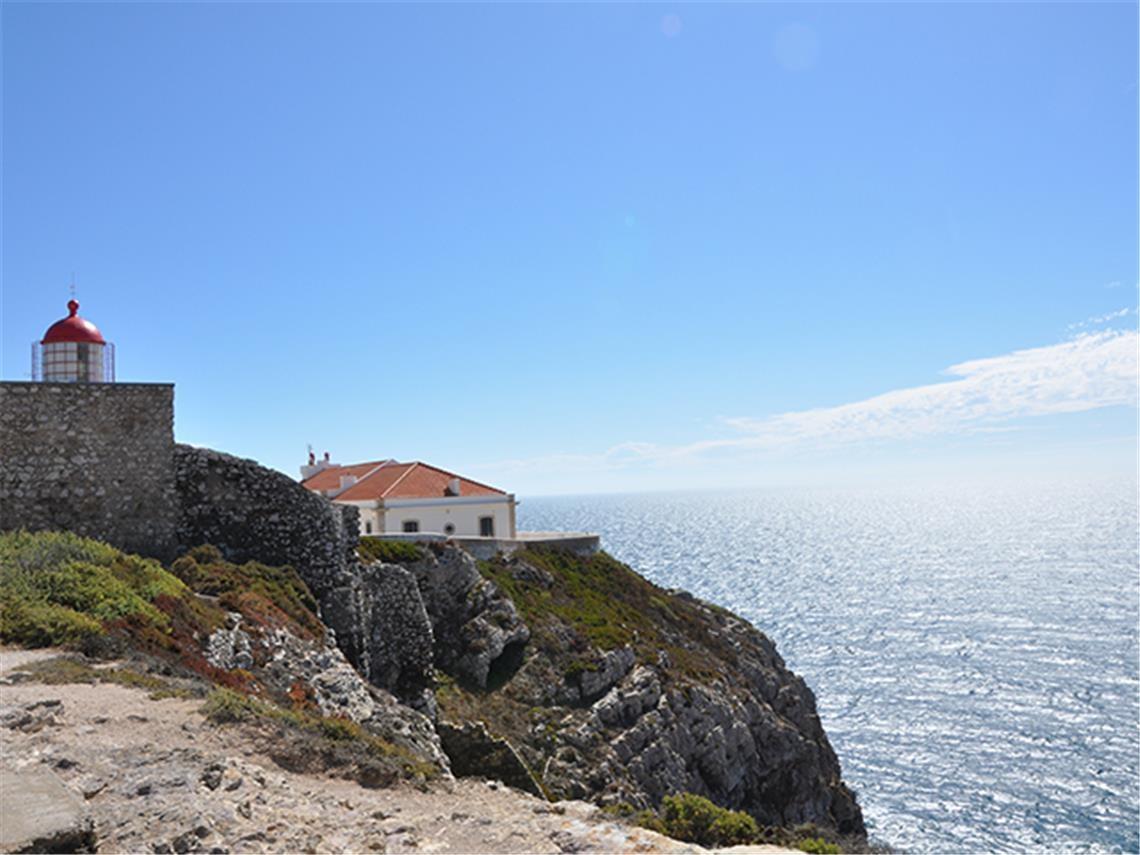 Faro Cabo Sao Vicente Algarve Portogallo