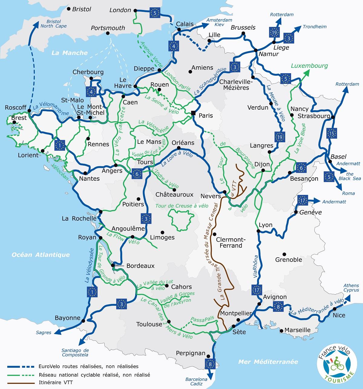 Francia in bici
