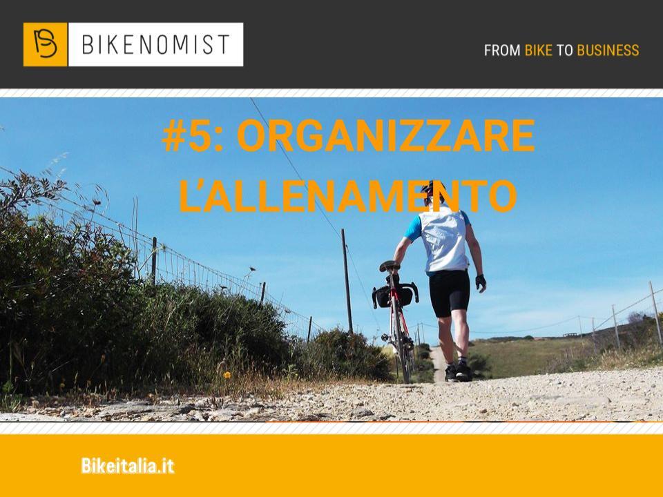 Organizzare l'allenamento in bicicletta