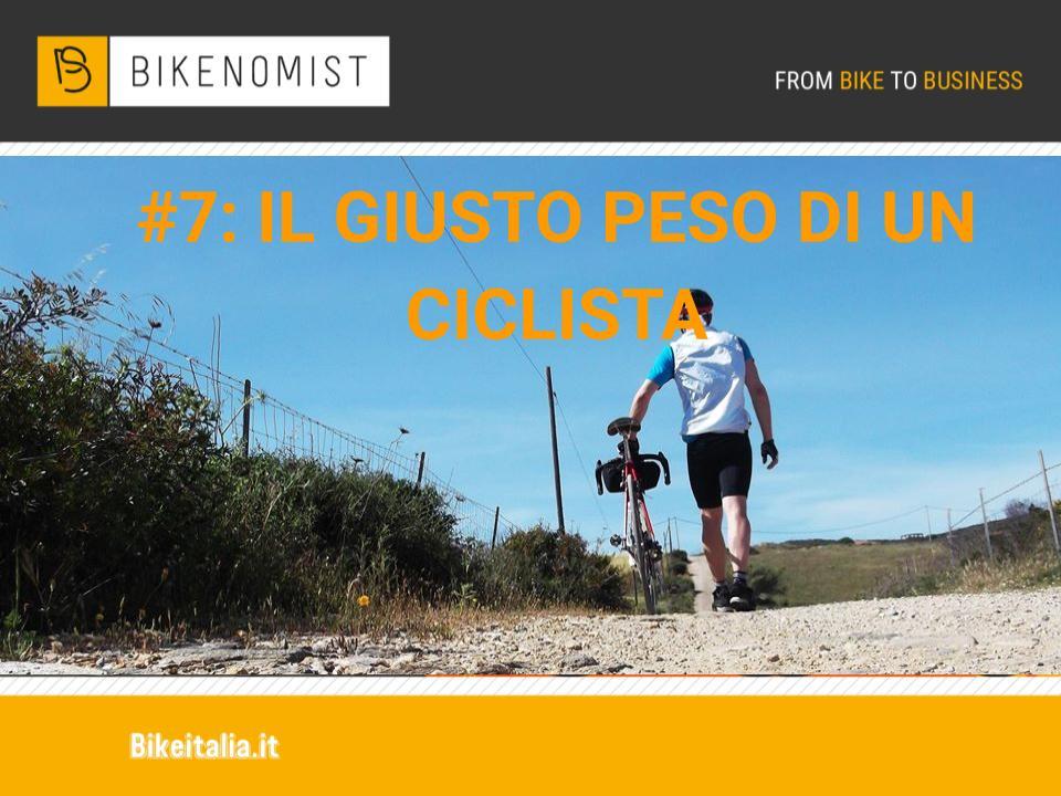 Il giusto peso di un ciclista