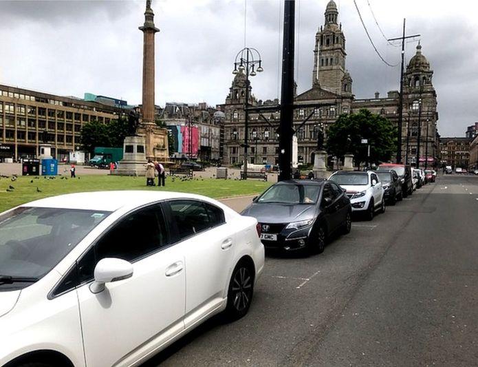 Glasgow parcheggi covid-19