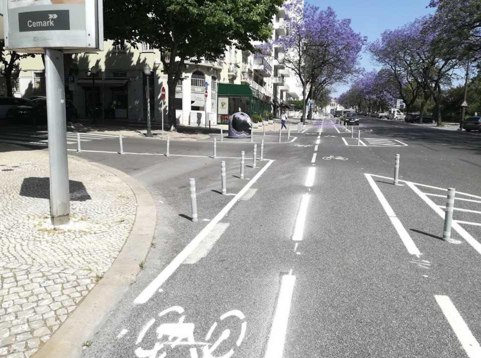 Lisbona ciclabili pop-up
