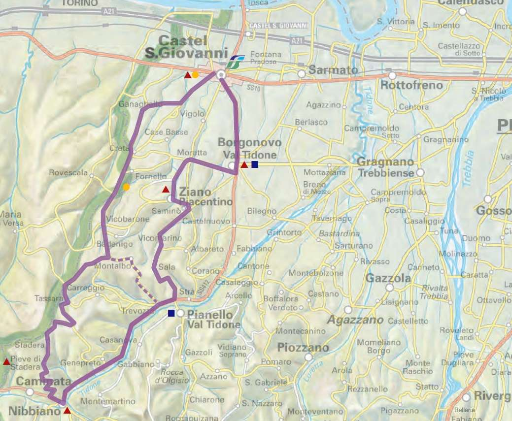 Itinerario Vini della Val Tidone (Credits: Provincia di Piacenza e Amolabici)