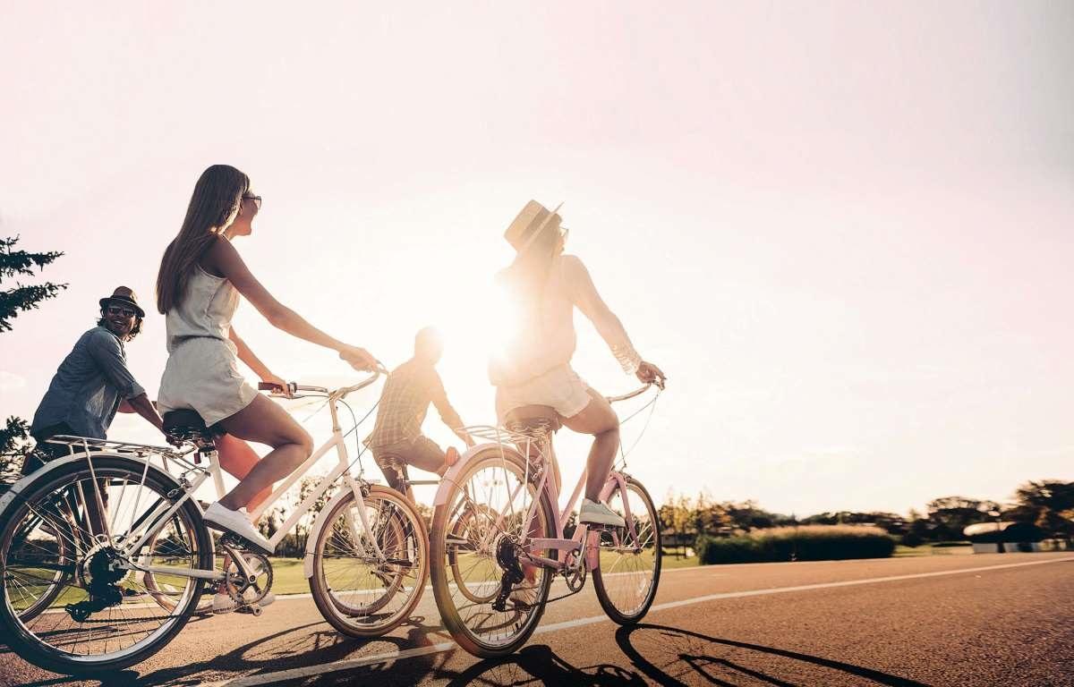 In bici in un viaggio organizzato con Jonas