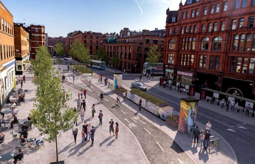 Manchester pedonalizzazioni