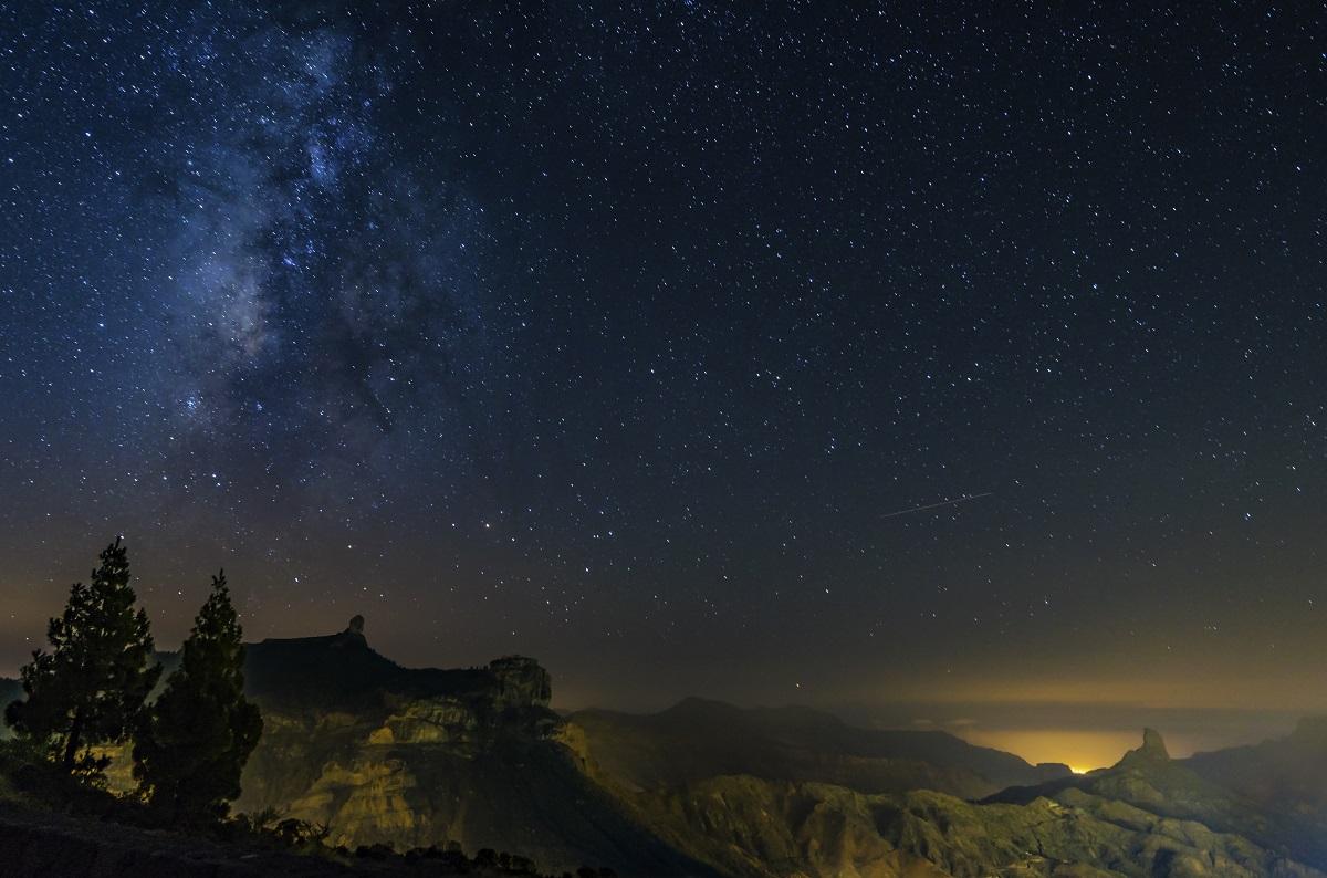 Il cielo stellato di Roque Nublo, Gran Canaria