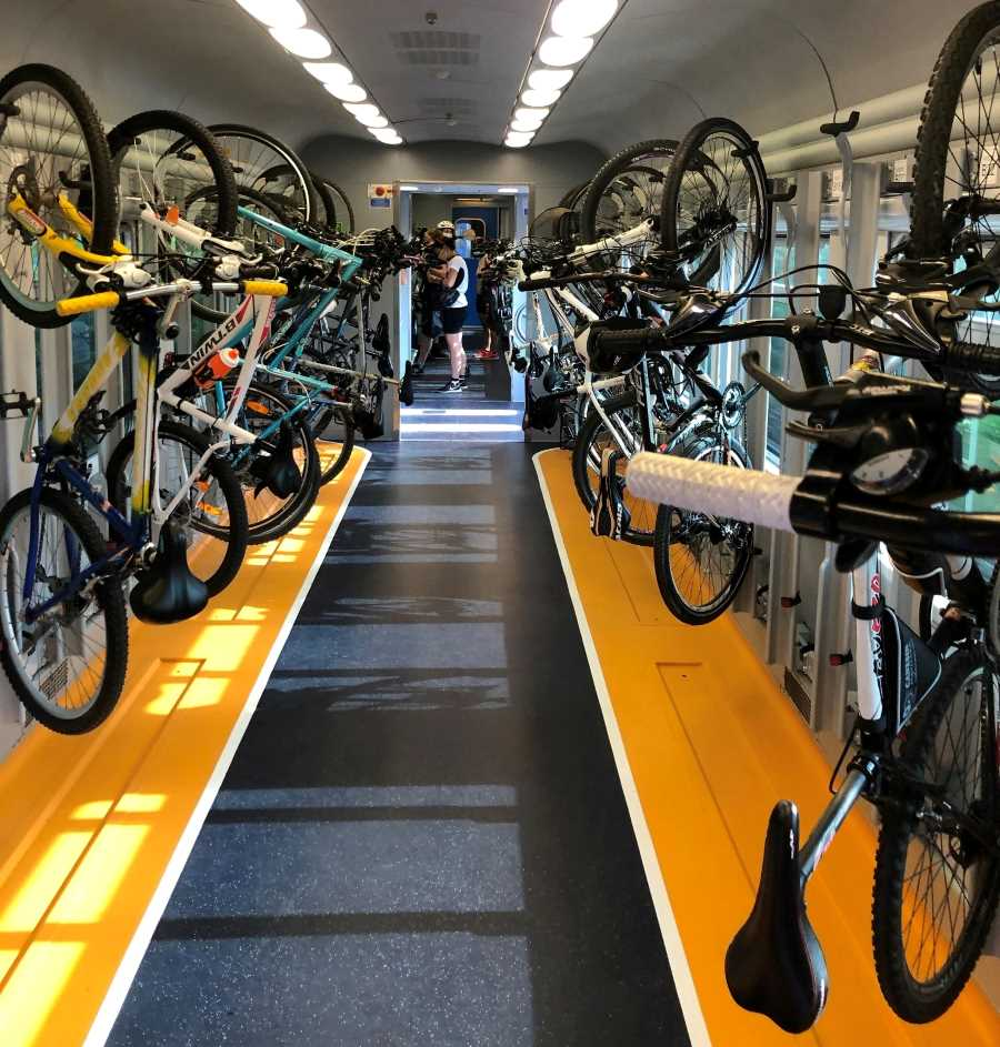 treno + bici cicloturisti FVG