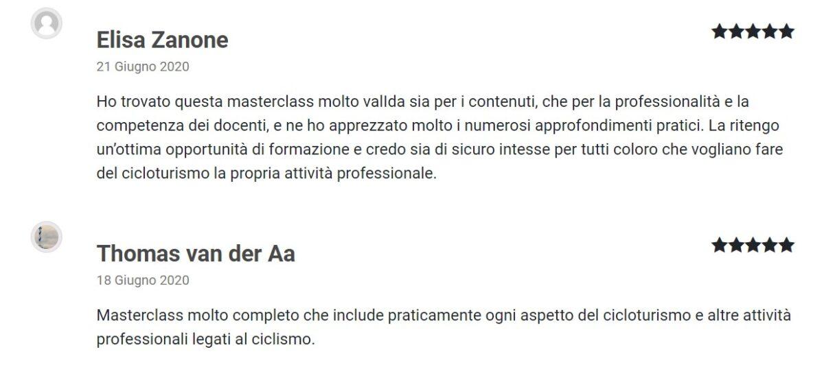 Recensioni Masterclass Bike Manager