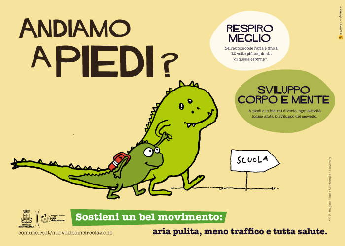 Reggio Emilia piedi bici drago