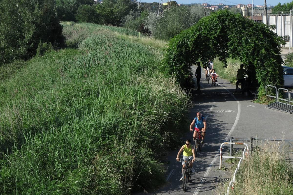 Ciclovia Tiberina - tratto della ciclabile Tevere a Roma