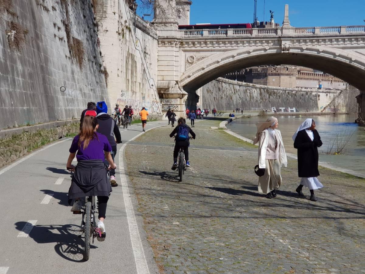 ciclabilità mobilità Roma