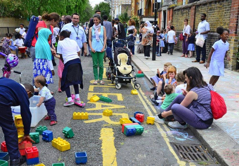 Londra strade scolastiche aria pulita