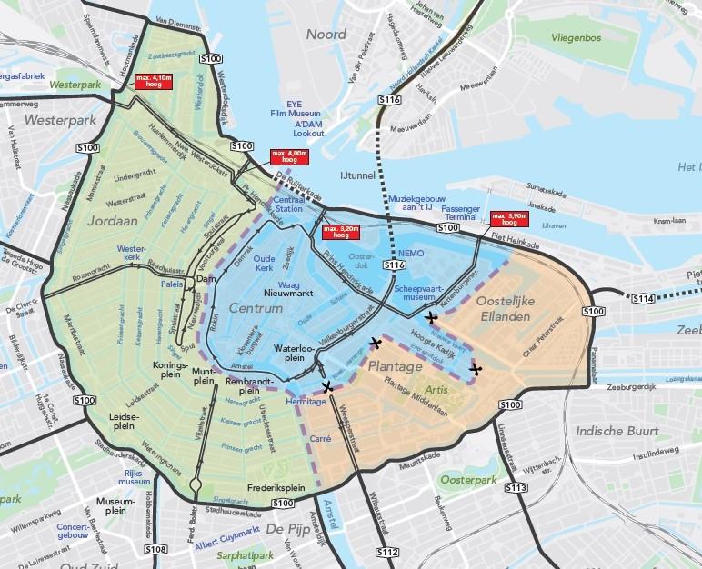 Amsterdam vantaggi strade chiuse