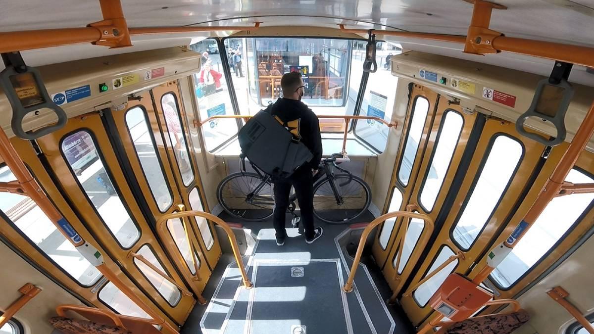 Budapest trasporto bici sul tram