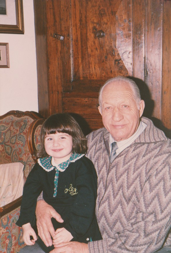 Lisa Bartali in braccio a nonno Gino Bartali