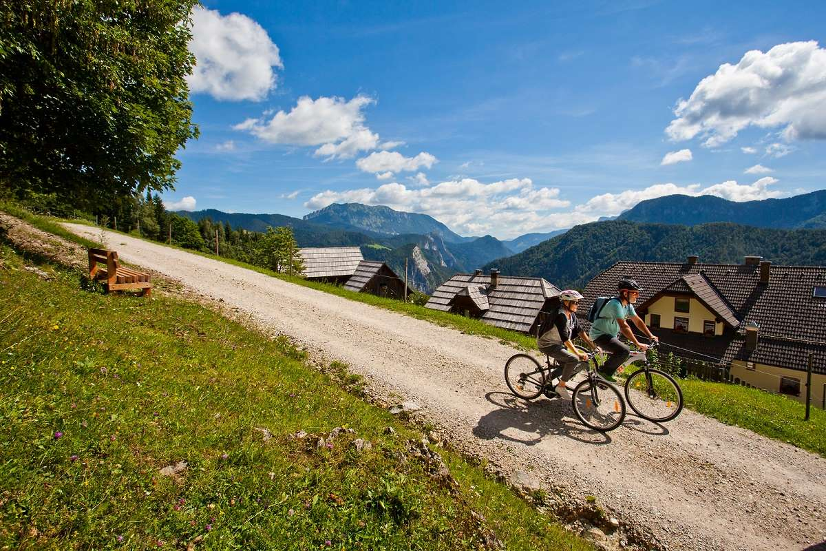 In bicicletta nella natura, crediti Slovenian Tourist Board, Jošt Gantar