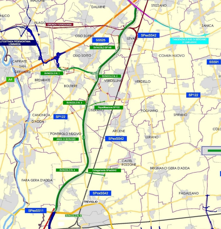 Treviglio-Bergamo autostrada