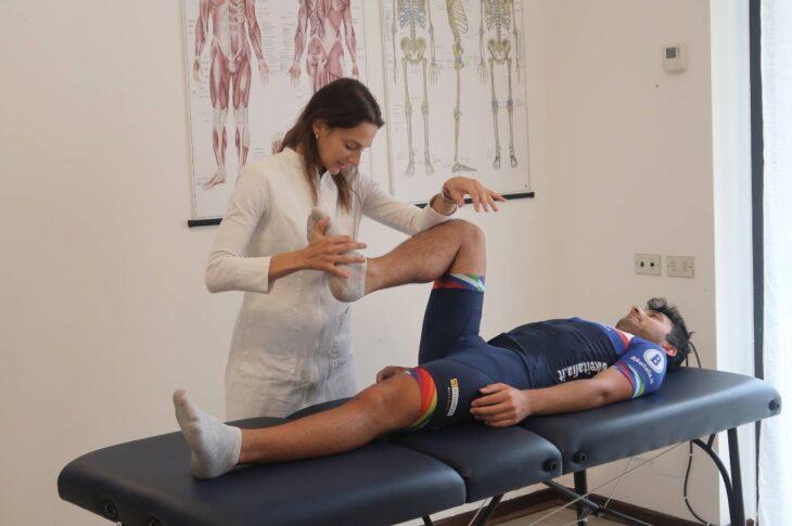 Visita biomeccanica Bikeitalia Lab di Monza flessibilità del ginocchio