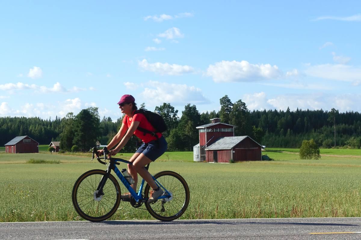 Finlandia Lago Tuusula in bicicletta