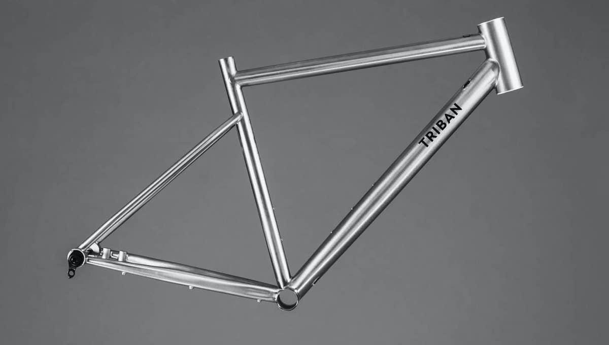 Il telaio in titanio realizzato da Dedacciai per Decathlon