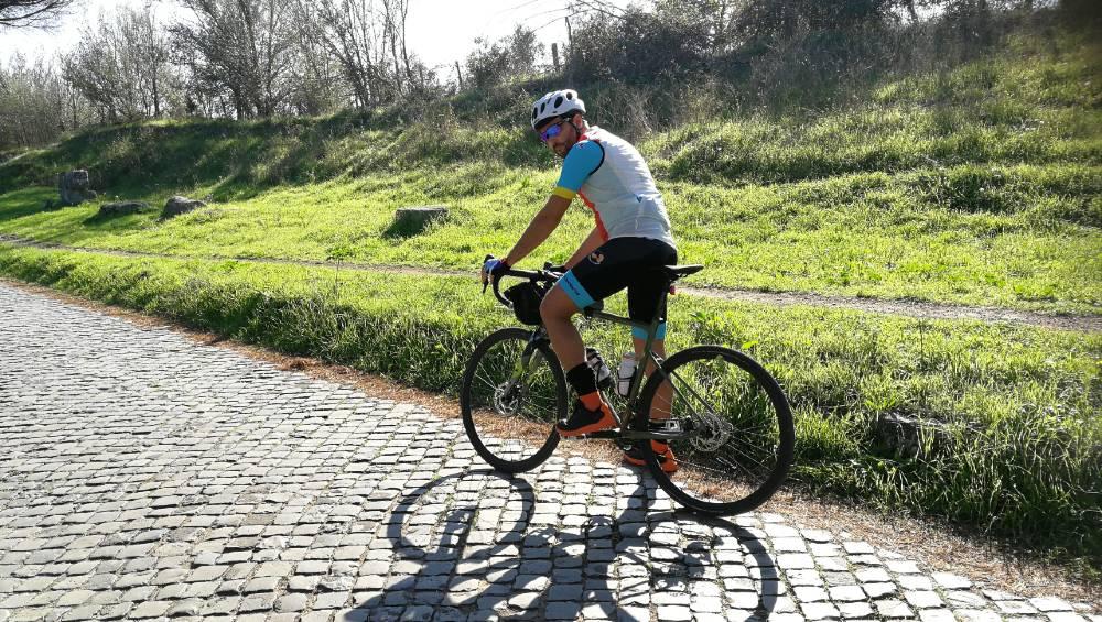 Appia Antica in sella alla Bergamont Grandurance 6