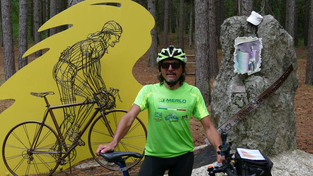 Il ricordo di Marco Pantani sul Carpegna