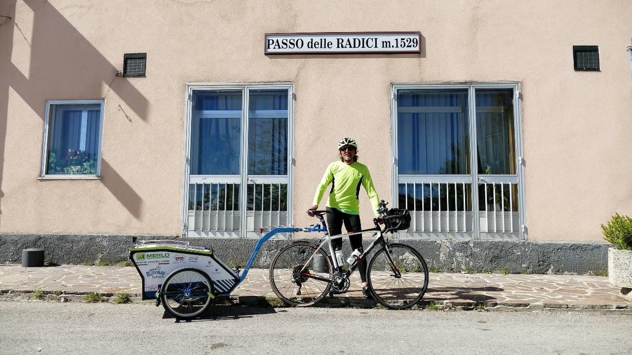 Passo delle Radici raggiunto in bici