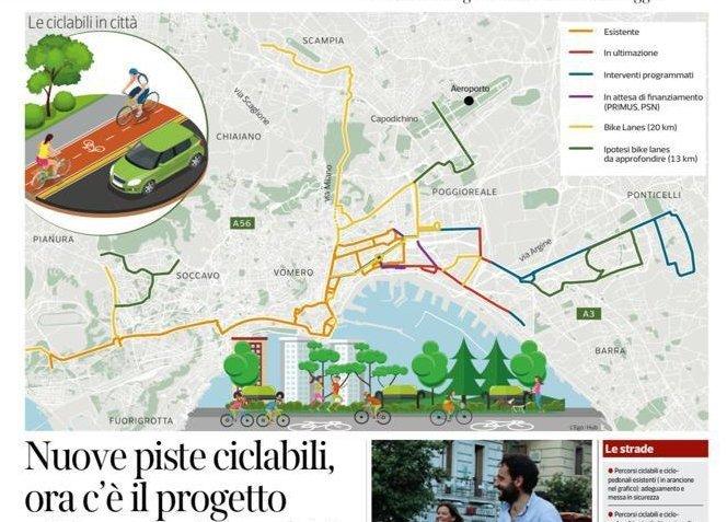 Napoli progetto ciclabili