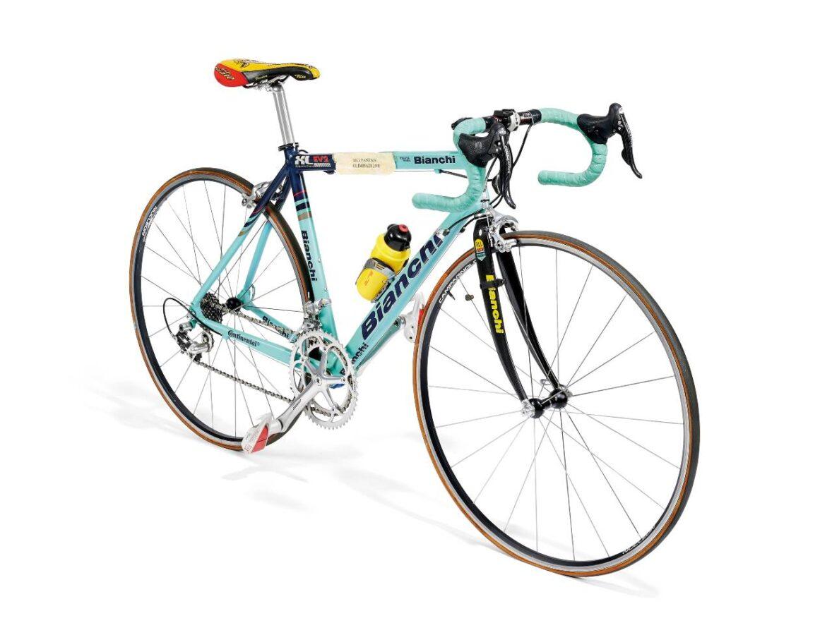 Bici di Marco Pantani per la prova su strada delle Olimpiadi di Sydney 2000
