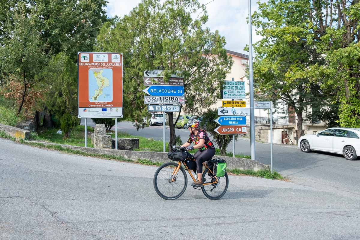 Ciclovia dei Parchi della Calabria itinerario in bici